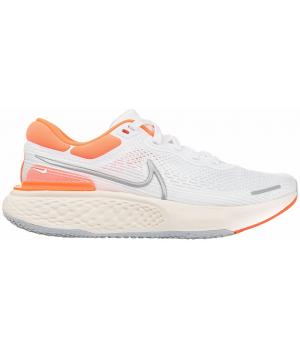 Кроссовки Nike ZoomX Invicible Run Flyknit белые с оранжевым
