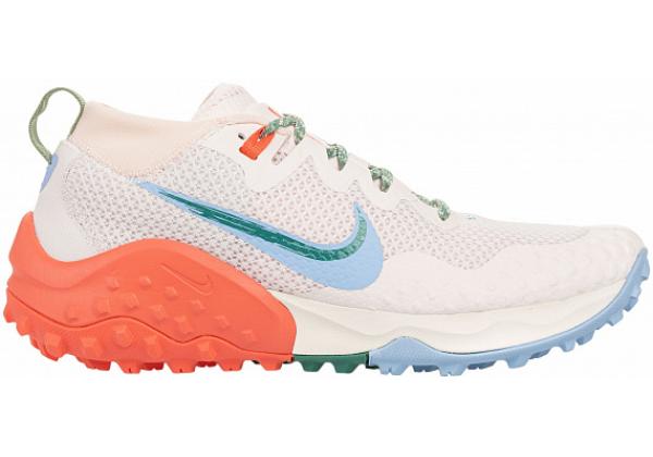 Кроссовки Nike Air Zoom Wildhorse 7 белые с оранжевым