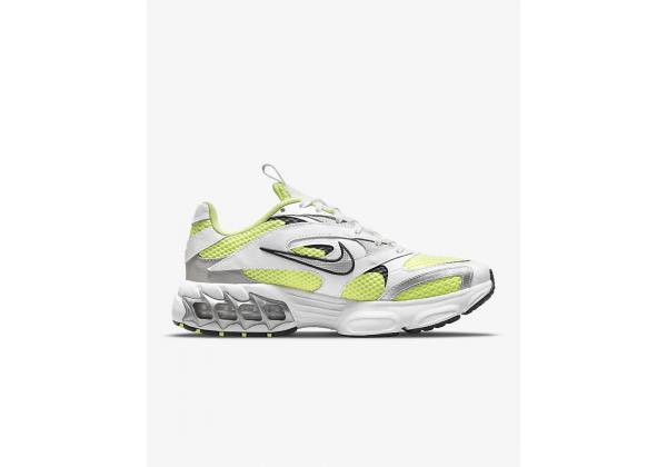 Кроссовки Nike Zoom Air Fire серебристые с зеленым