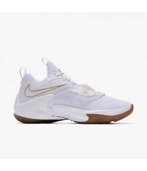 Кроссовки Nike Zoom Freak 3 By You белые с золотистым