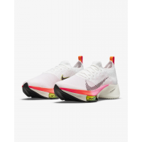 Кроссовки Nike Air Zoom Tempo NEXT Flyknit белые с красным