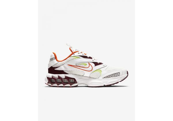 Кроссовки Nike Zoom Air Fire белые с оранжевым